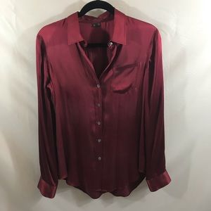 Theory Silk button up blouse